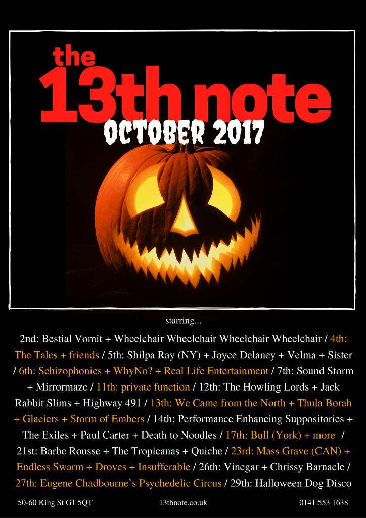 13th note - october 2017 pumpkin